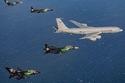 شاركت طائرات  K3-MRTT وفريق الصقور والطائرات المقاتلة المطلية