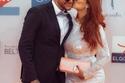 أحمد الفيشاوي وزوجته ندى كامل في افتتاح مهرجان الجونة