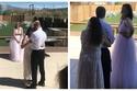 صور: حماة تأخذ مكان عروس ابنها وتنافسها بفستان زفاف أجمل منها