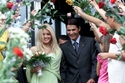الزي التقليدي للعروس الإيطالية وهو ثوب من اللون الأخضر الفاتح