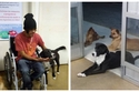 صور: كلاب ضالة تنتظر مشرد بعد نقله إلى المشفى.. استقبالهم له رائع