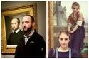 صور غريبة جدا: في المتحف .. أشخاص حقيقيين يشبهون اللوحات إلى حد كبير