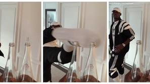 رد قوي من بول بوجبا على إبراهيموفيتش في تحدي غطاء الزجاجة..هذا ما فعله