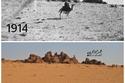 مقارنة بين صورتين لاكثر من 100 عام لقافلة الرحالة جير ترود بل عام 191