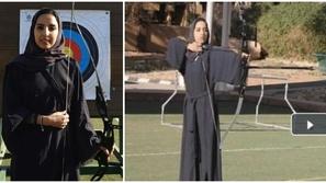 فيديو: بطلة سعودية في رمي السهام تنافس في تحدي غطاء الزجاجة