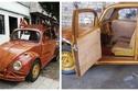صور: أب يصنع سيارة بيتل من الخشب كهدية لابنته.. النتيجة النهائية مذهلة