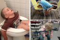 20 صورة مضحكة لأطفال مشاغبين سيطر عليهم سلطان النوم في أماكن عجيبة