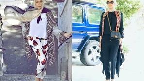 صور تعكس أناقة وجمال أمل حجازي بالحجاب.. رقم 9 رائعة بكل المقاييس