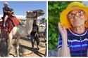صور: جمعت المال لسنوات.. سيدة عجوز تقارب الـ100 عام تسافر حول العالم