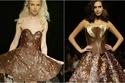 أزياء من الشوكولاتة في عرض أزياء لبناني