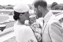 الأمير هاري وميغان ماركل وابنهما آرتشي بعد ولادته