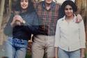 ياسمين صبري في شبابها مع والدها بدون حسنة أعلى شفاها