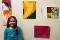 أول معرض لفنانة وطفلة وكل اللوحات بيعت