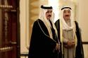 الراحل صباح الأحمد مع أمير البحرين