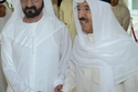 الراحل صباح الأحمد و محمد بن راشد حاكم دبي
