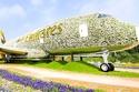 أكبر مجسم من الزهور سجله إماراتيون بنصف مليون زهرة.