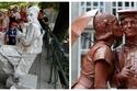 صور: كأنها حقيقية.. التماثيل تنتشر في شوارع هذه المدينة والسر مدهش