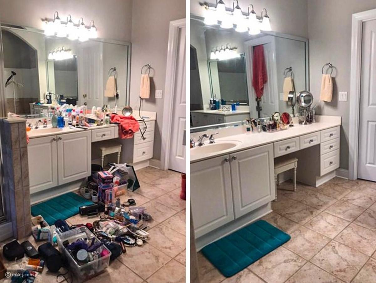 تنظيف المطبخ بالصور قبل وبعد