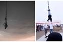 فيديو وصور في السعودية.. فتاة معلقة من أقدامها في الهواء تُثير غضب عام