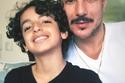 باسل خياط مع ابنه