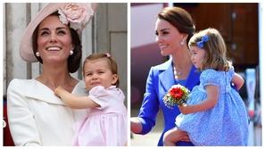 صور: البنت سر والدتها.. الأميرة شارلوت نسخة ثانية عن كيت ميدلتون ❤