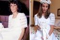 سيدة مضى الوقت منذ عام 1977 لكن فستانها هو نفسه