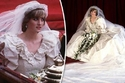 الأميرة ديانا بفستان الزفاف