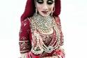 كيك على شكل عروسة هندية