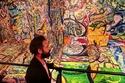 الفنان البريطاني ساشا جافري  صاحب أكبر لوحة في العالم