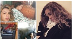 صور: حتى عند الكوافير.. نجمات عرب غلبهن النوم في أماكن غير متوقعة