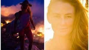بالصور والفيديو: تعرفوا على أجرأ نساء العالم.. سبحت وسط الحمم البركانية في مغامرة أذهلت العالم!