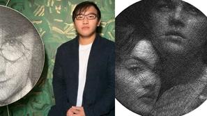 صور: فنان مبدع ينسج لوحات مدهشة لمشاهير بخيط واحد!