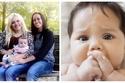 صور: في تجربة فريدة.. إنجاب طفل واحد من رحم امرأتان