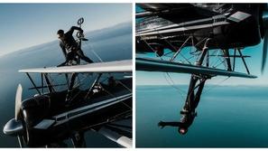 صور: بين الغيوم.. شاب يقف على جناح طائرة وهي تتحرك بزاوية 360 درجة