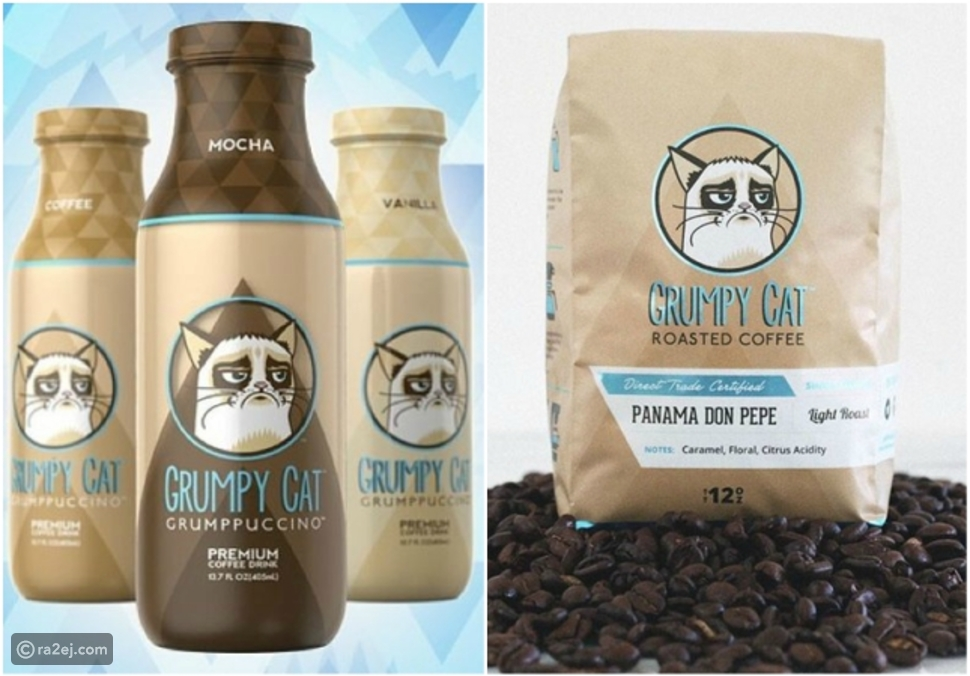 """استخدام صورة """"القط الغاضب"""" في الترويج لمنتجات شركة قهوة أثار الجدل"""
