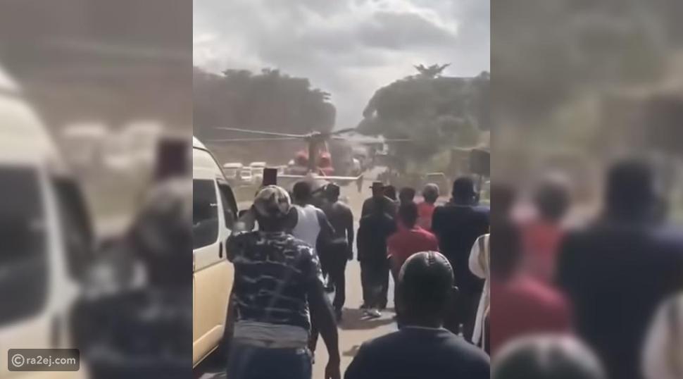 فيديو: مروحية خاصة تنتشل مليونير من زحام مروري وسط دهشة العالقين!