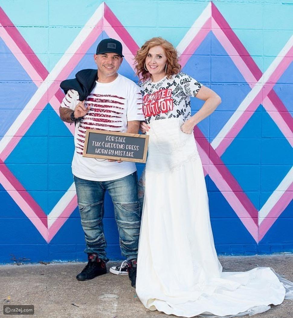 أغرب جلسة تصوير لزوجين احتفالًا بالطلاق: بدلة رسمية وفستان زفاف للبيع