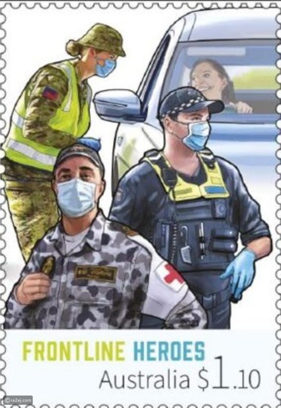 تكريم خاص للعاملين في مواجهة كورونا على الطوابع البريدية: محجبة تتصدر