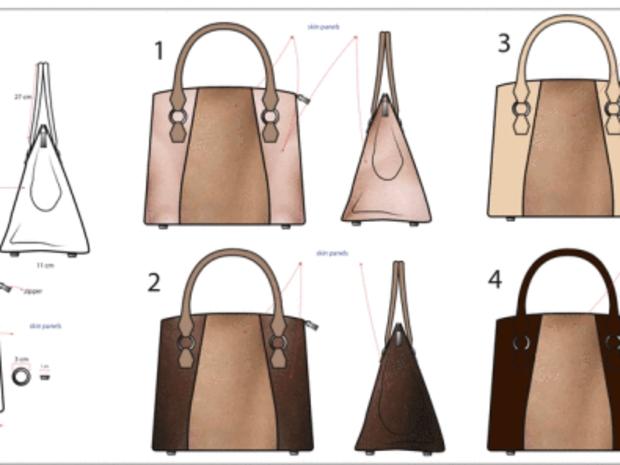 تصميم حقيبة من جلد الإنسان