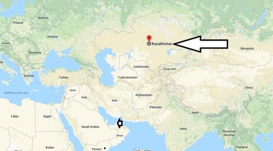 خريطة كازاخستان
