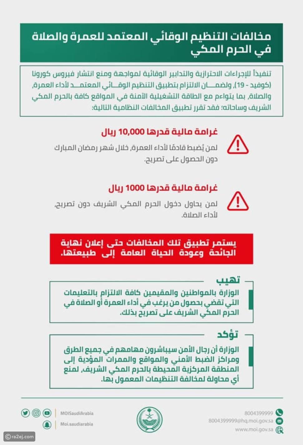 السعودية تعلن إجراءات رمضان في مكة المكرمة: 10 آلاف ريال غرامة للمخالف