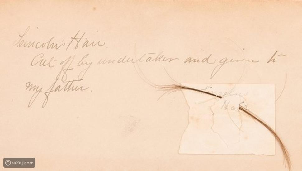 خصلة شعر صغيرة للرئيس الأمريكي إبراهام لينكولن: كم بلغ سعرها؟