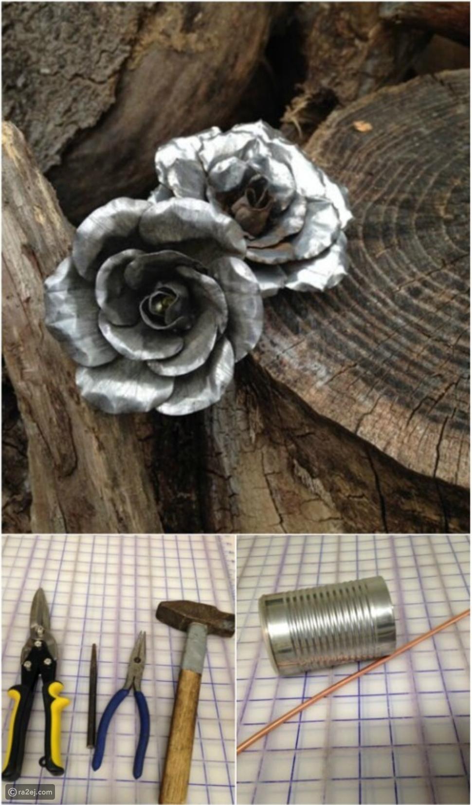 تكوين مجسمات جمالية بالعلب المعدنية