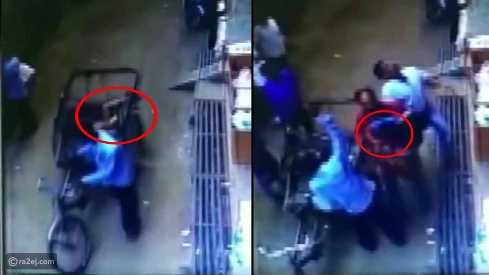 شاهد: طفل يسقط من ارتفاع 11 مترًا داخل عربة