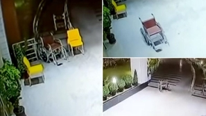 فيديو مثير لكرسي يسير وحده في منتصف الليل .. هل تعتقد أنه شبح!