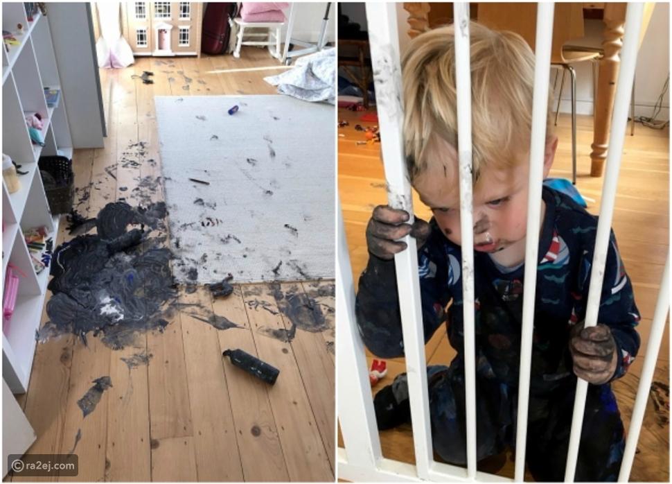صور.. أم اضطرت لترك طفلها بمفرده للرد على الهاتف وكانت هذه النتيجة!