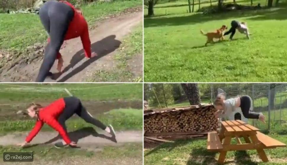فيديو: مهارة غريبة لا يصدقها عقل.. فتاة تركض كالفرس الجامح!