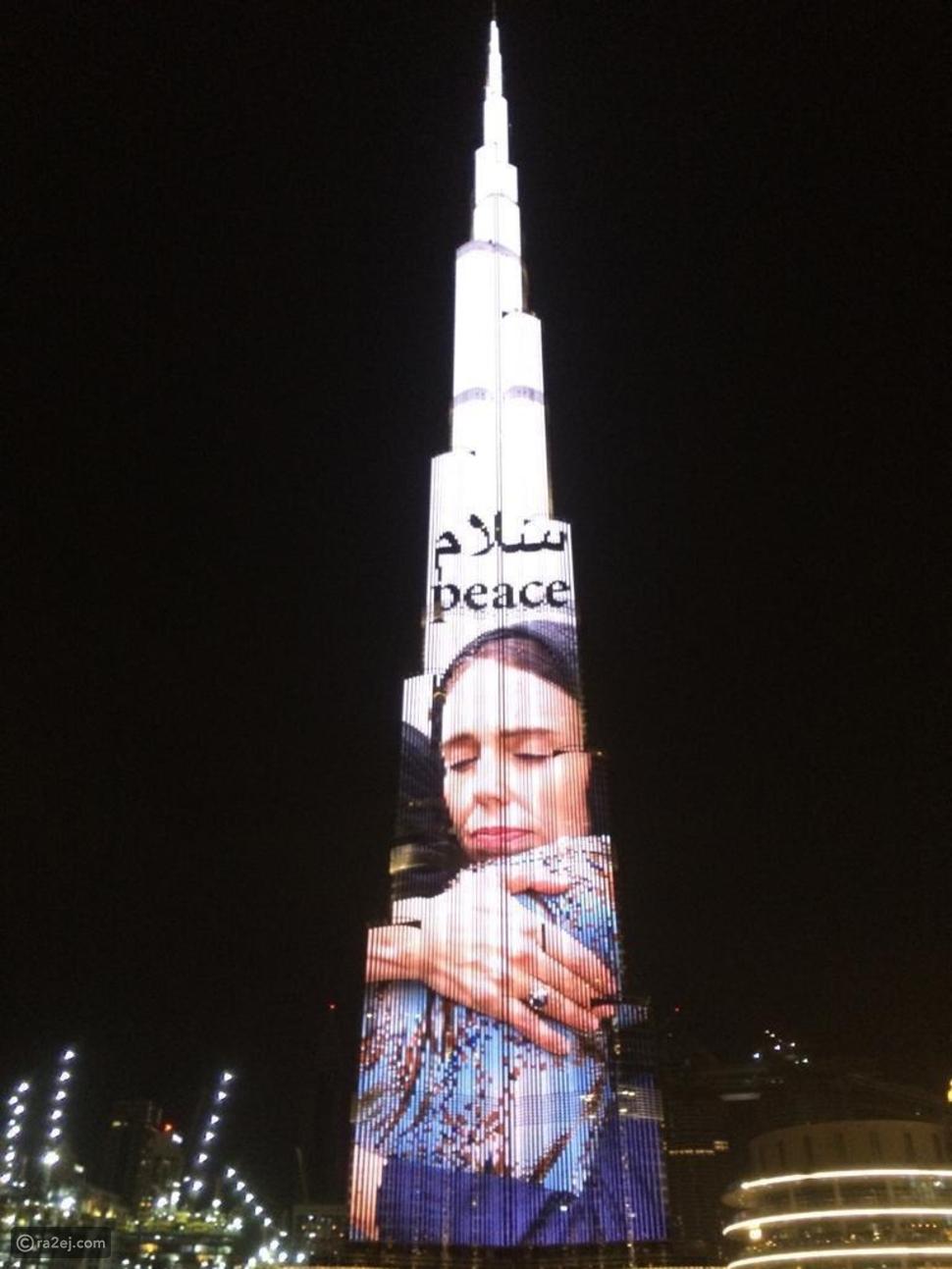 هكذا احتفى برج خليفة بتسامح رئيسة وزراء نيوزيلندا وهي مرتدية الحجاب