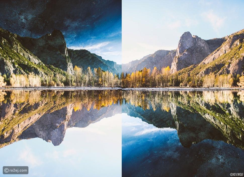 ماذا يحدث حين تقلب الصور الطبيعية رأساً على عقب؟ لن تصدق النتيجة