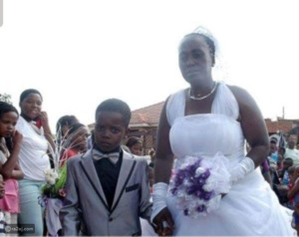 صور صادمة لزفاف طفل 8 سنوات من سيّدة فوق الستين: والسبب لا يُصدّق